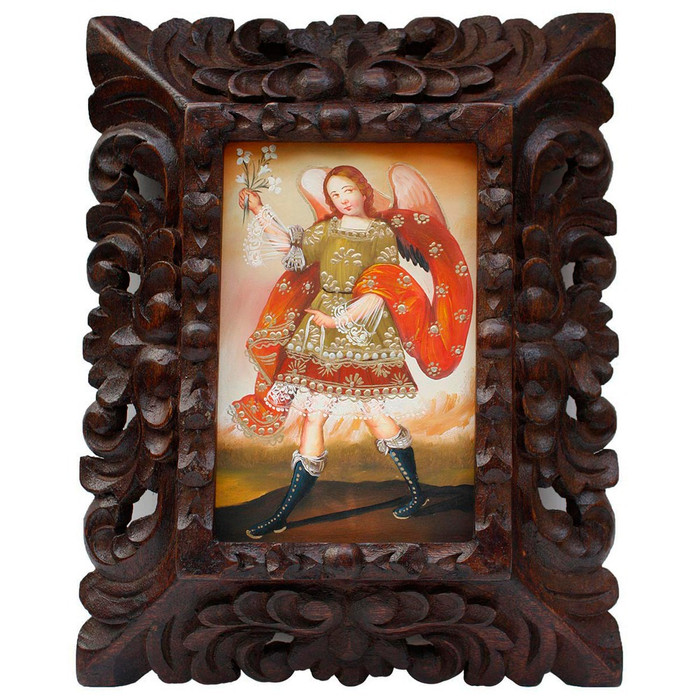 "Archangel Gabriel Original Art Framed Oil Painting 10""x 8"" (86-014-02244)"