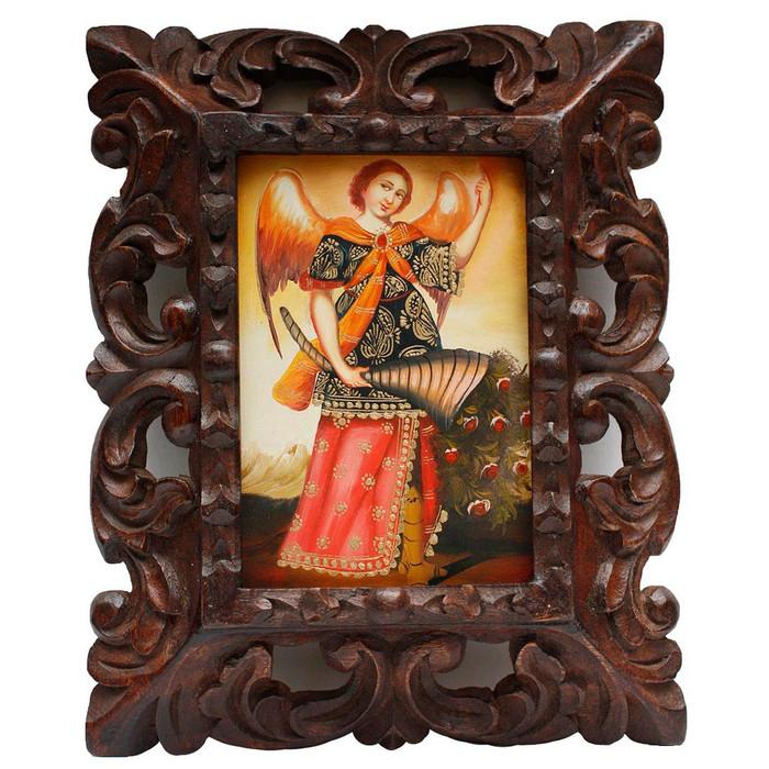 "Archangel Gabriel Original Art Framed Oil Painting 10""x 8"" (86-014-02251)"