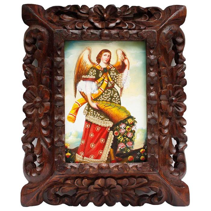 "Archangel Gabriel Original Art Framed Oil Painting 10""x 8"" (86-014-02261)"