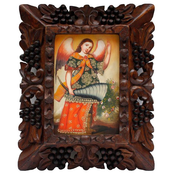 "Archangel Gabriel Original Art Framed Oil Painting 10""x 8"" (86-014-02289)"
