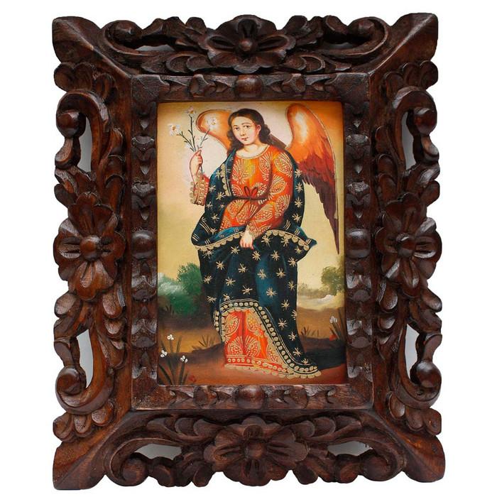 "Archangel Gabriel Original Art Framed Oil Painting 10""x 8"" (86-014-02290)"