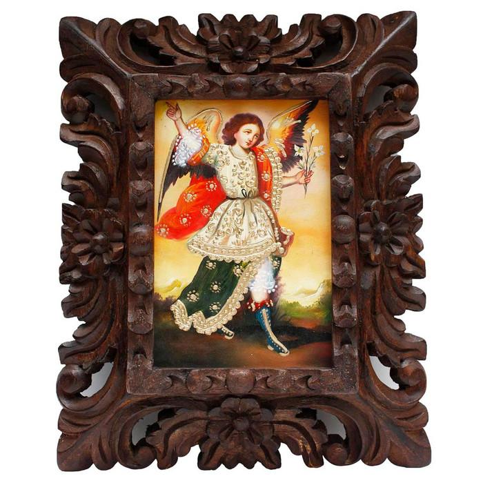 "Archangel Gabriel Original Art Framed Oil Painting 10""x 8"" (86-014-02292)"