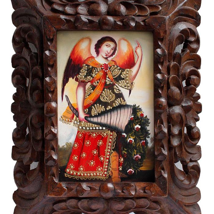 "Archangel Gabriel Original Art Framed Oil Painting 10""x 8"" (86-014-02363)"