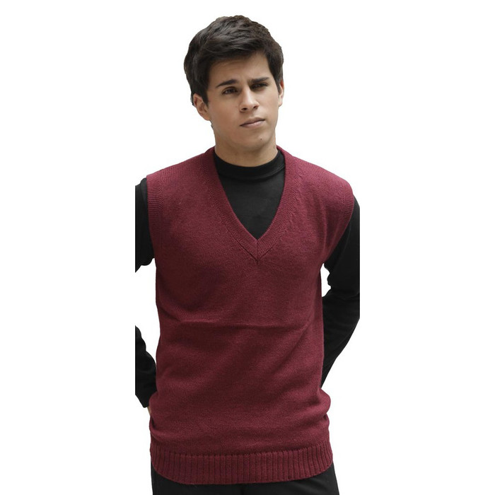 Men's Soft Warm Alpaca Wool Knitted V Neck Sweater Vest