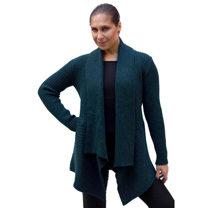 Women's Alpaca Wool Coat SZ M Green