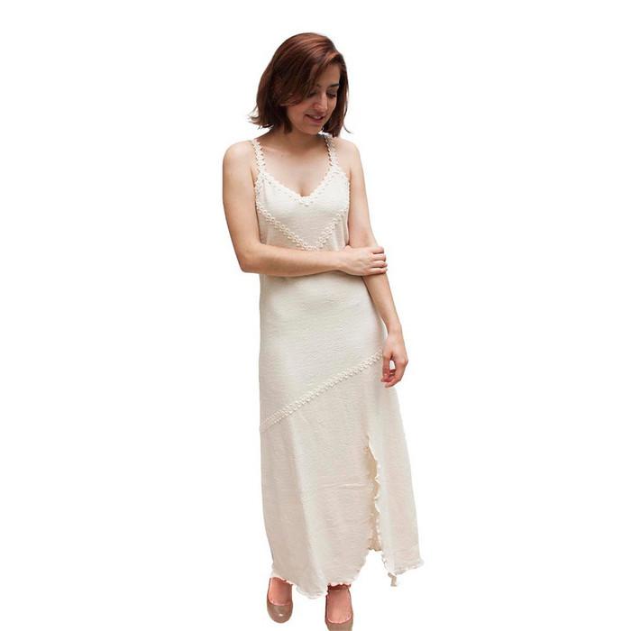 Womens 100% Pima Cotton Summer Dress Size L (53A-013-00001L)