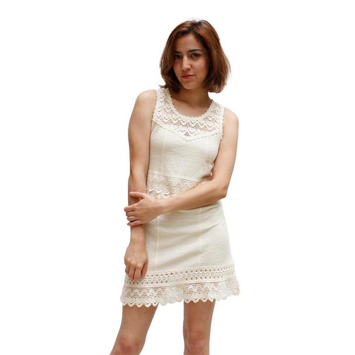 Womens 100% Pima Cotton Summer Dress Size L (53C-013-00003L)