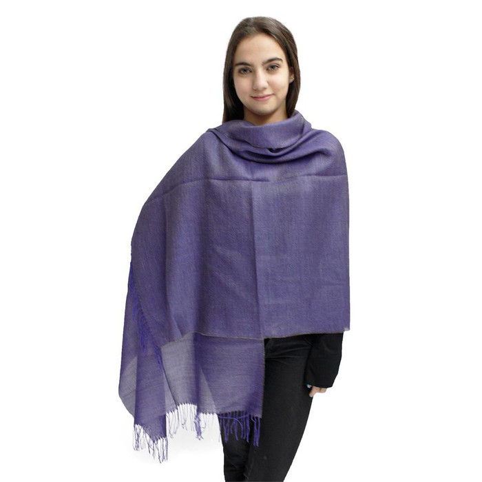 Textures Baby Alpaca & Silk Shawl by Inca Alpaca Soft Purple (25L-017-9209-0001)