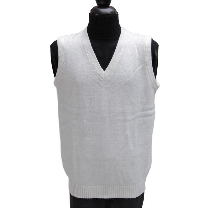 Mens Alpaca Wool Golf Vest SZ L Ivory (04-013-03843)