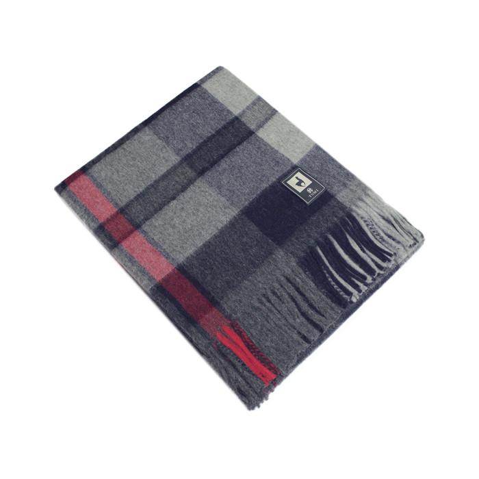 "Alpaca Merino Wool Woven Blanket Throw Soft And Warm Squares Scottish Design 70"" x 60"""