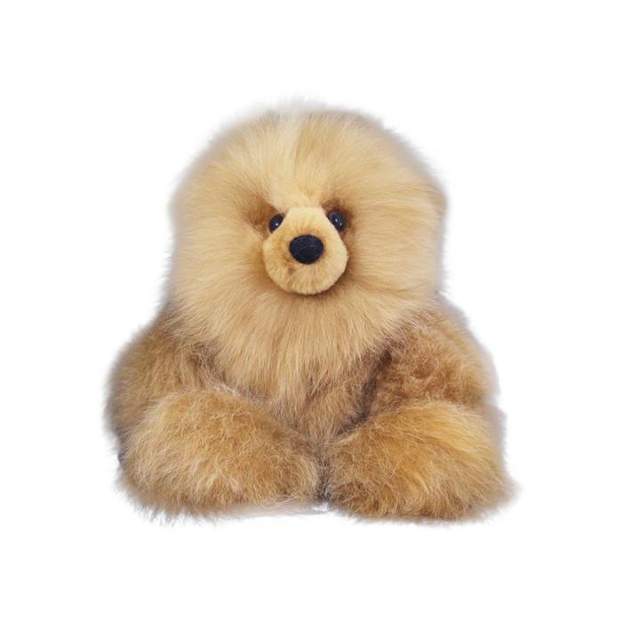 "Superfine 100% Baby Alpaca Fur Stuffed Artist Teddy Bear 11""  (22B-001)"