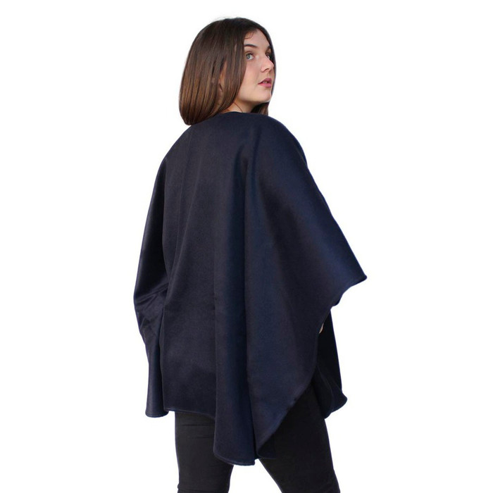Womens 100% Authentic Baby Alpaca Wool Woven Ruana Cape Wrap