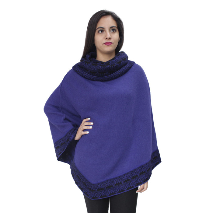 Womens Superfine 100% Baby Alpaca Wool Handmade Knit Premium Poncho Extremely Soft And Warm
