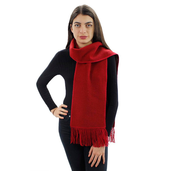 Women's Alpaca Merino Wool Yarn Winter Knitted Soft And Warm Scarf