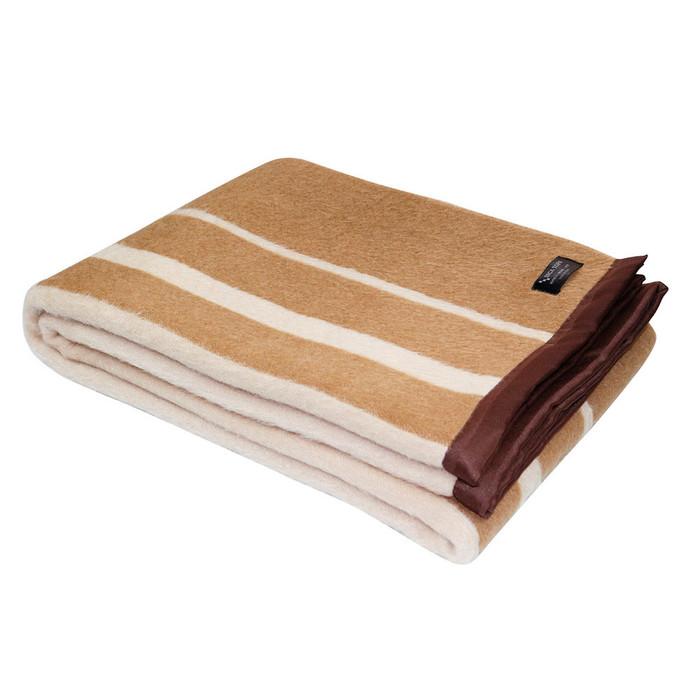 "Alpaca Wool Blend Bicolor Woven Blanket Throw With Trim - 79"" x 60"""