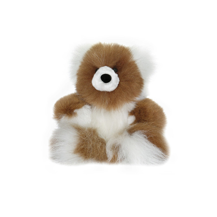 "Superfine 100% Baby Alpaca Fur Stuffed Artist Teddy Bear 10"" (22-100-03449)"