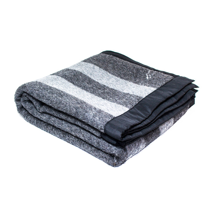 "Superfine Woven Alpaca Wool Bed Blanket 100% Natural Fiber Silk Edge Charcoal Gray/Gray 64"" x 62"""