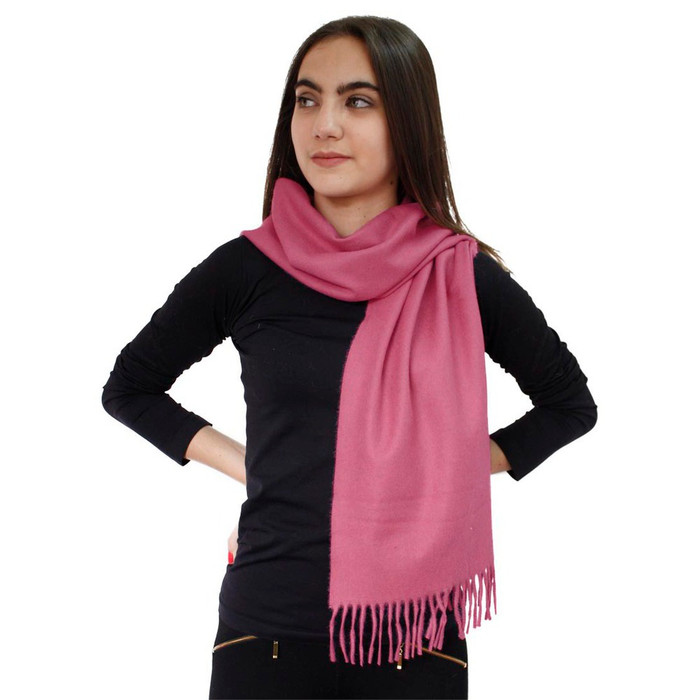 Woven Soft And Warm 100% Baby Alpaca Unisex Scarf Solid Color