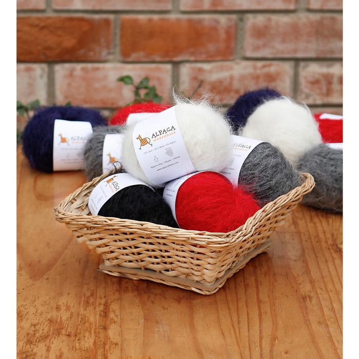 Superfine Suri Alpaca Yarn Wool Set Of 3 Skeins Sport Weight