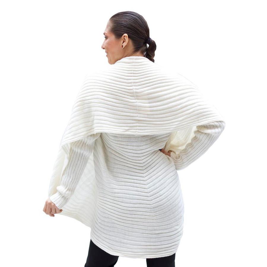 Alpaca Wool Coat Ivory SZ L (11K-013-201L)