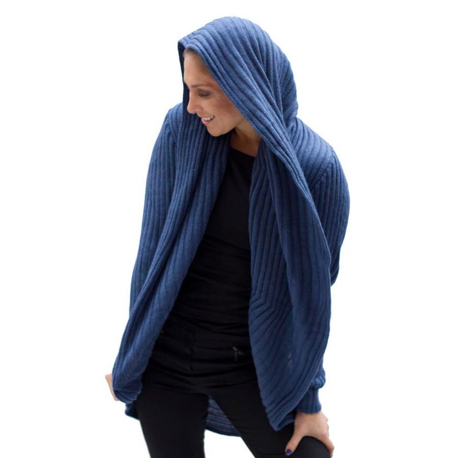 Alpaca Wool Coat Steel Blue SZ L (11K-036-753L)