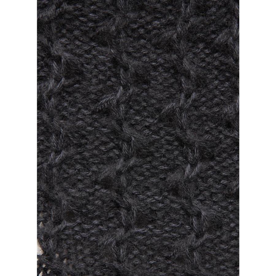 Womens Superfine Alpaca Wool Hooded Coat Size L Black (11C-033-500L)