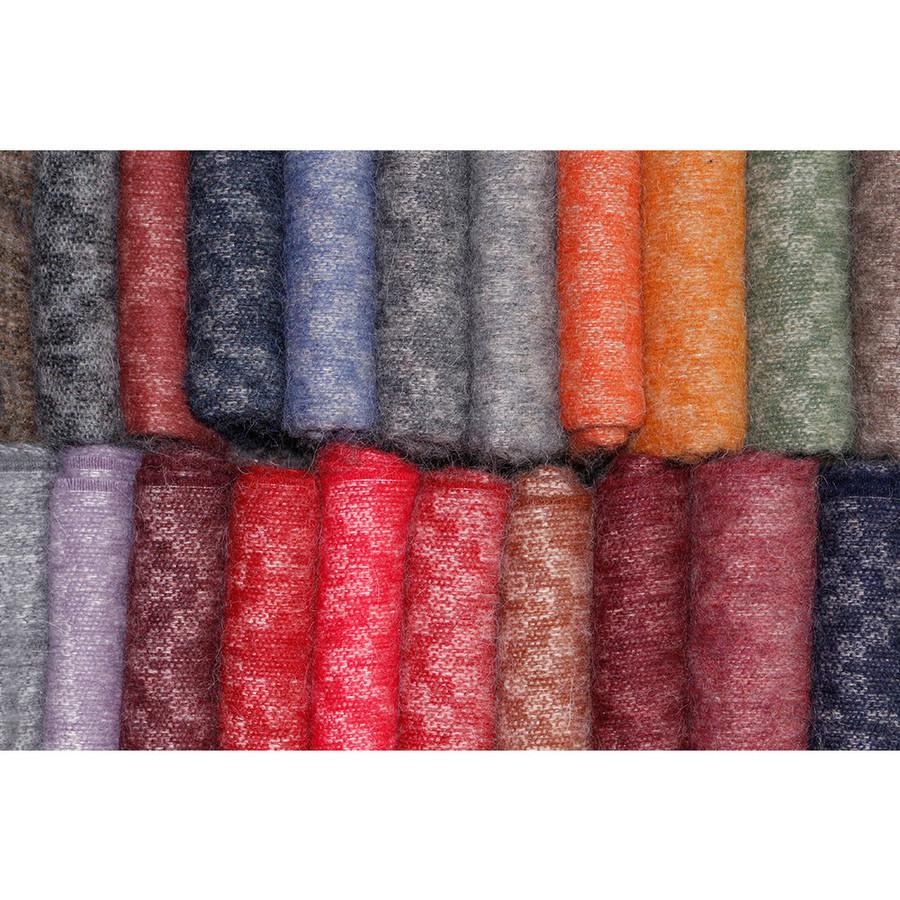 Alpaca Merino Wool Throw Blanket Cherokee Style - Soft And Warm