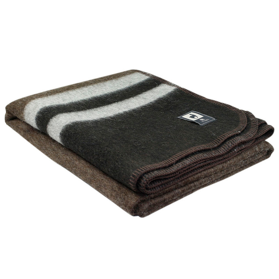 Brown/Black - Silver Gray Stripes