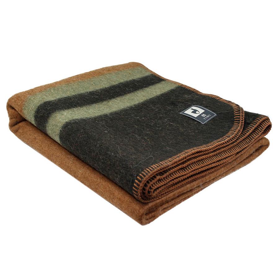 Camel/Dark Brown - Leaf Green Stripes
