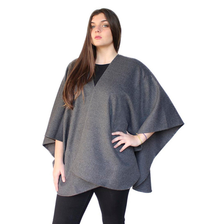 Womens 100 Authentic Baby Alpaca Wool Woven Ruana Cape Wrap