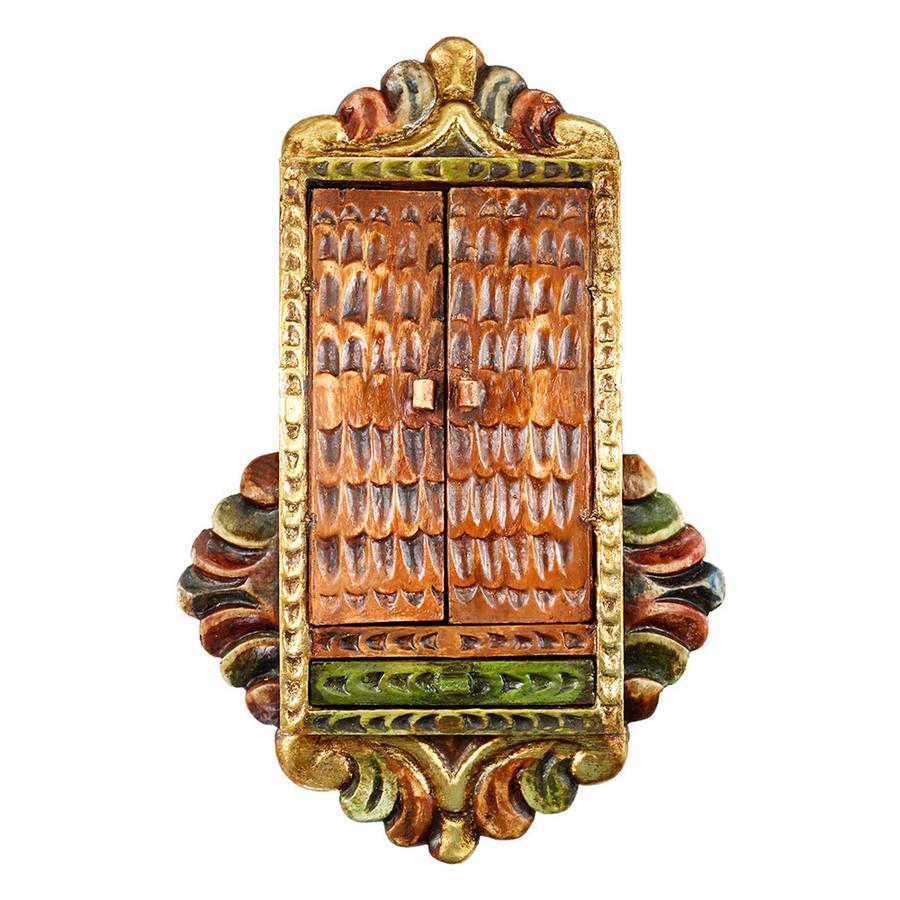 Musician Archangel Colonial Cuzco Peru Handmade Wood Retablo Framed Oil Painting (4418)