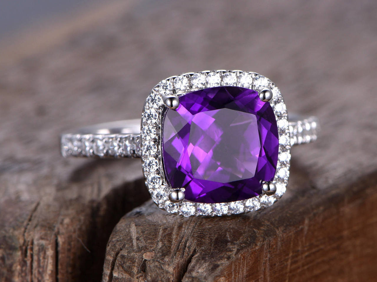 for rings silver amethyst purple her cut promise engagement sterling jewelry lajerrio round