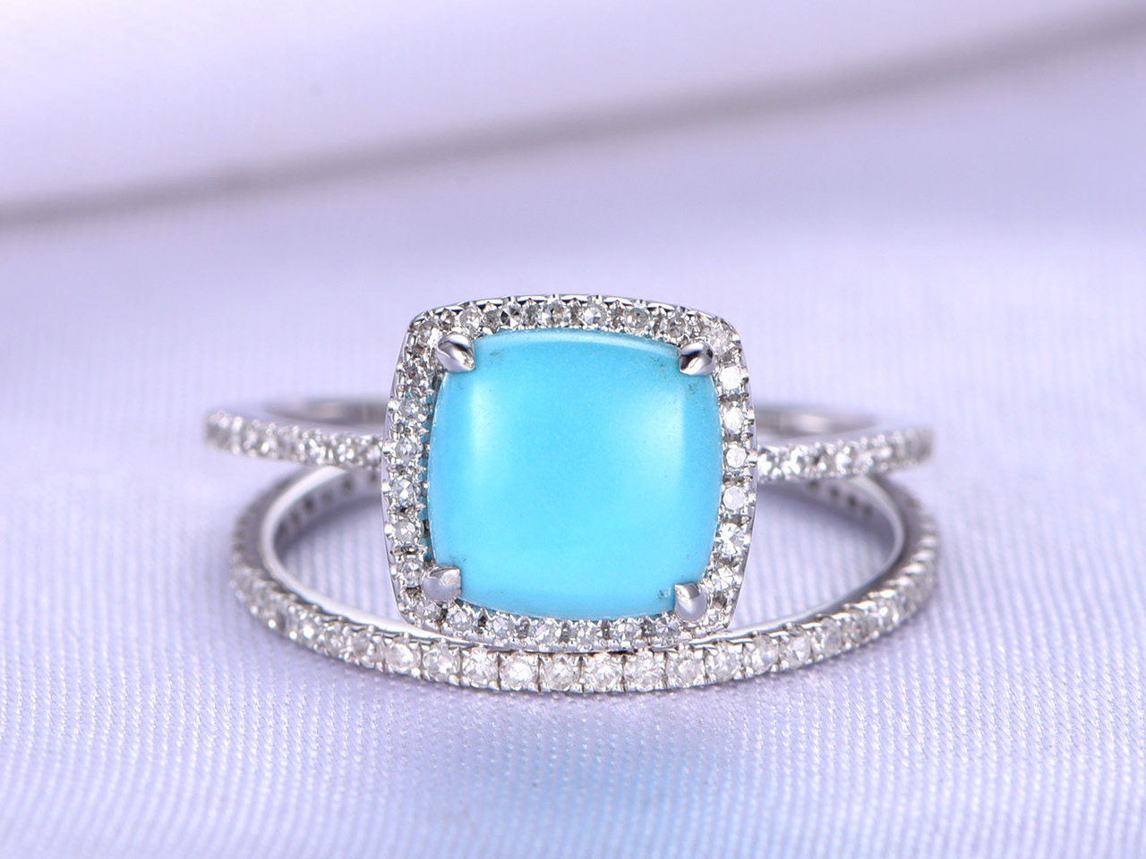 zoom rings turquoise en sg engagement il trillion diamond ring listing fullxfull