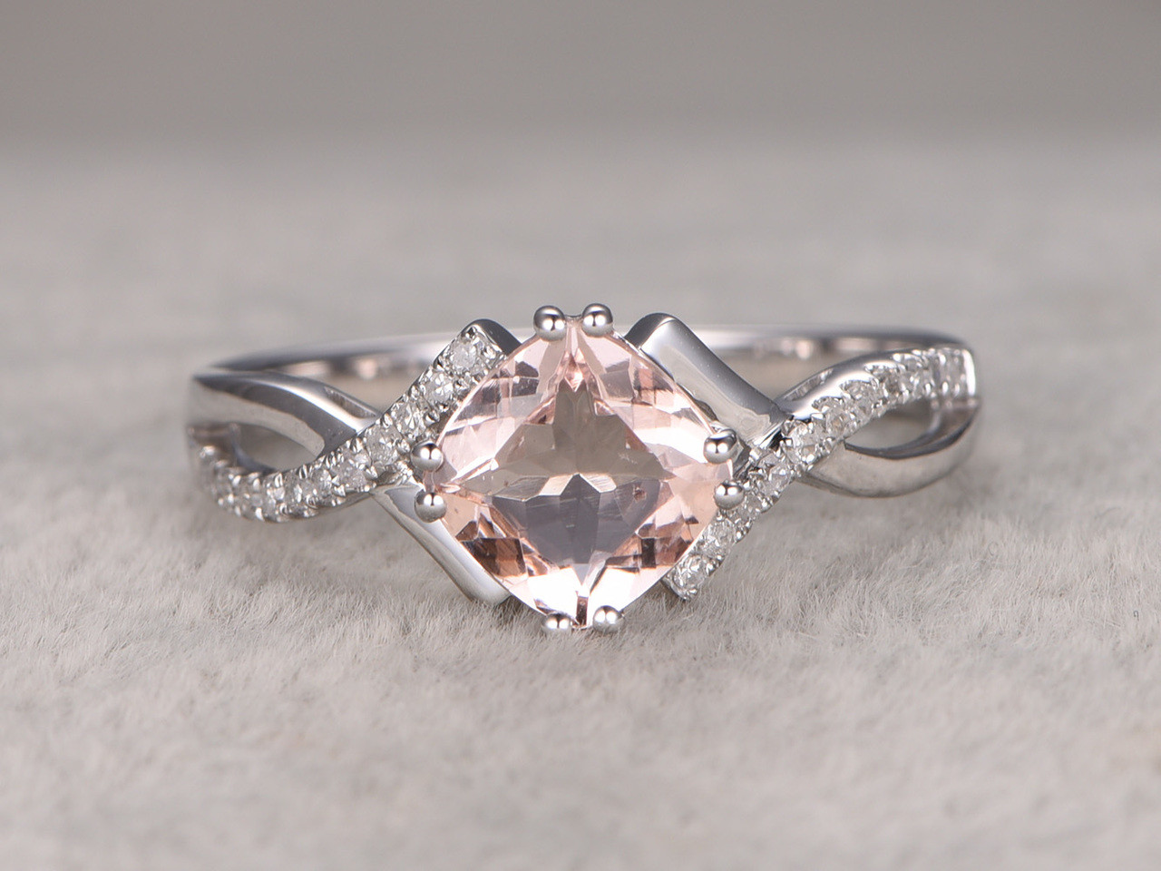 for gift her simulate white solid item synthetic cushion shape in carat from diamond xms ring pink engagement bridal best jewelry gold princess rings