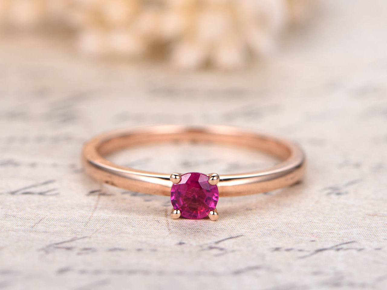 4mm round ruby wedding ring plain band bridal ringruby engagement 4mm round ruby wedding ring plain band bridal ringruby engagement ring solid junglespirit Image collections