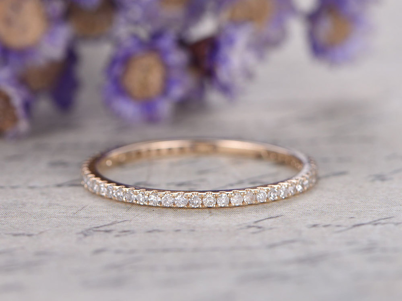 etsy wedding micro deal ferkosfinejewelry gift diamond rose ring mothers in day white pave amazing band gold shop eternity on avail