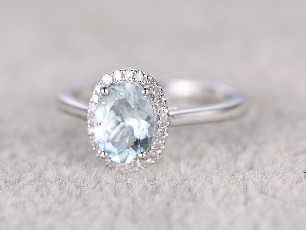 Non Metal Wedding Bands >> Antique Design Oval Aquamarine Engagement Ring non traditional wedding rings | BBBGEM