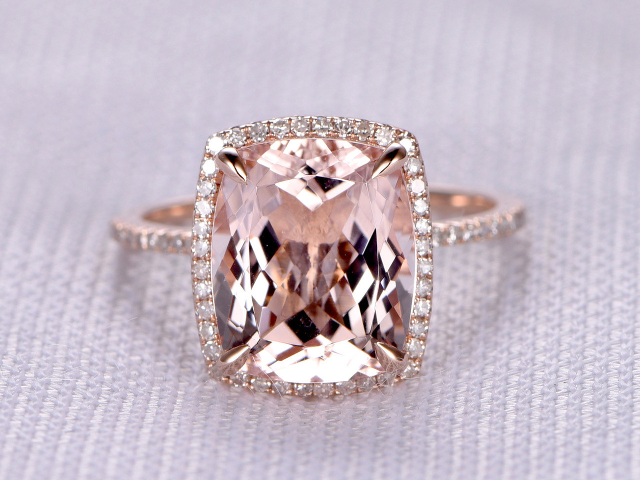 half bands eternity carat emerald wedding art gold bridal deco band morganite ring antique diamond rose set cut