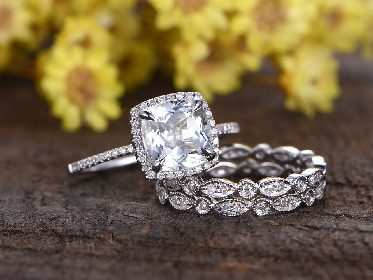 bridal set brilliant diamond ct valencia tw platinum white gold
