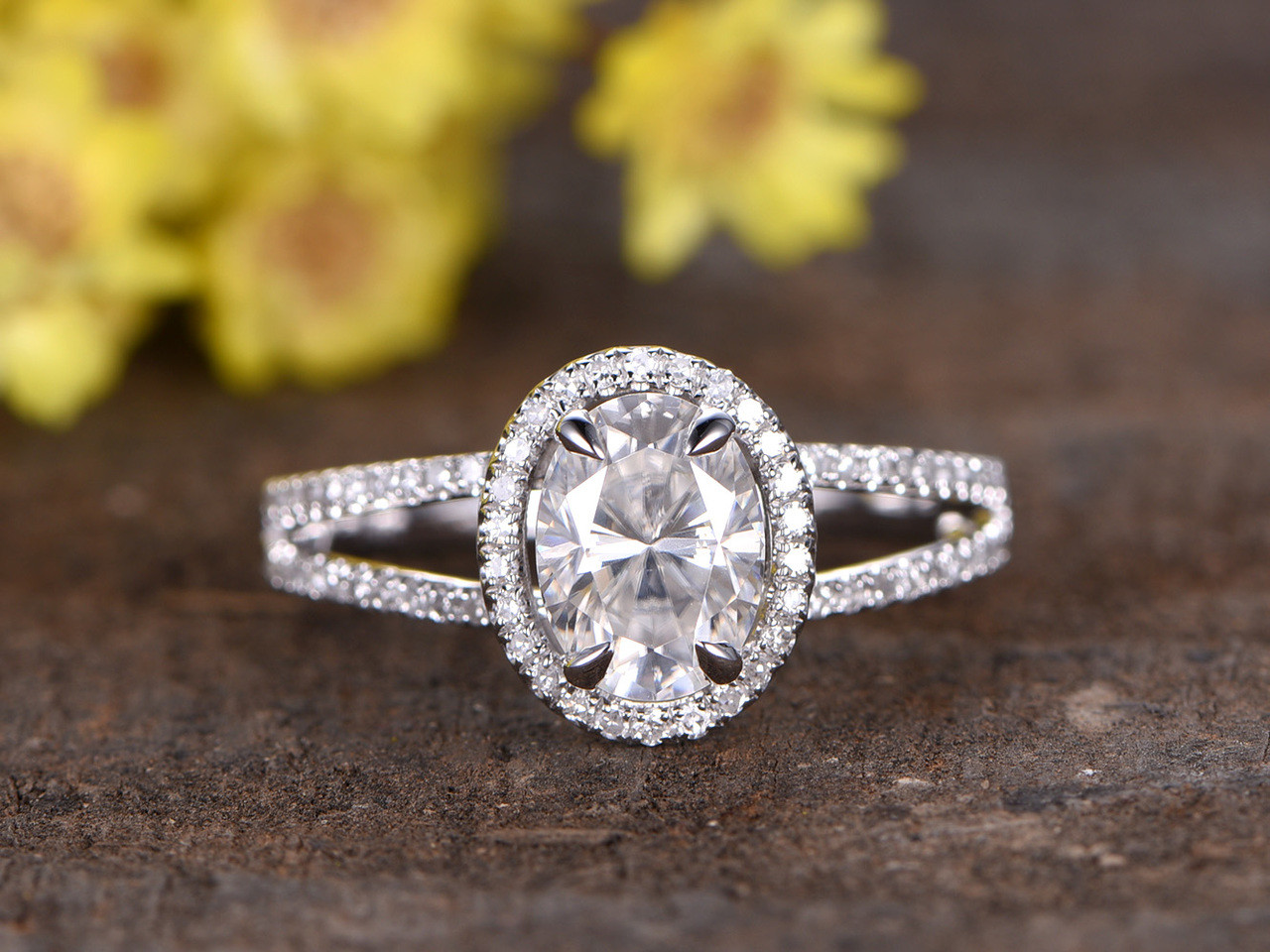 shank cushion antique rings diamond split ring cut engagement