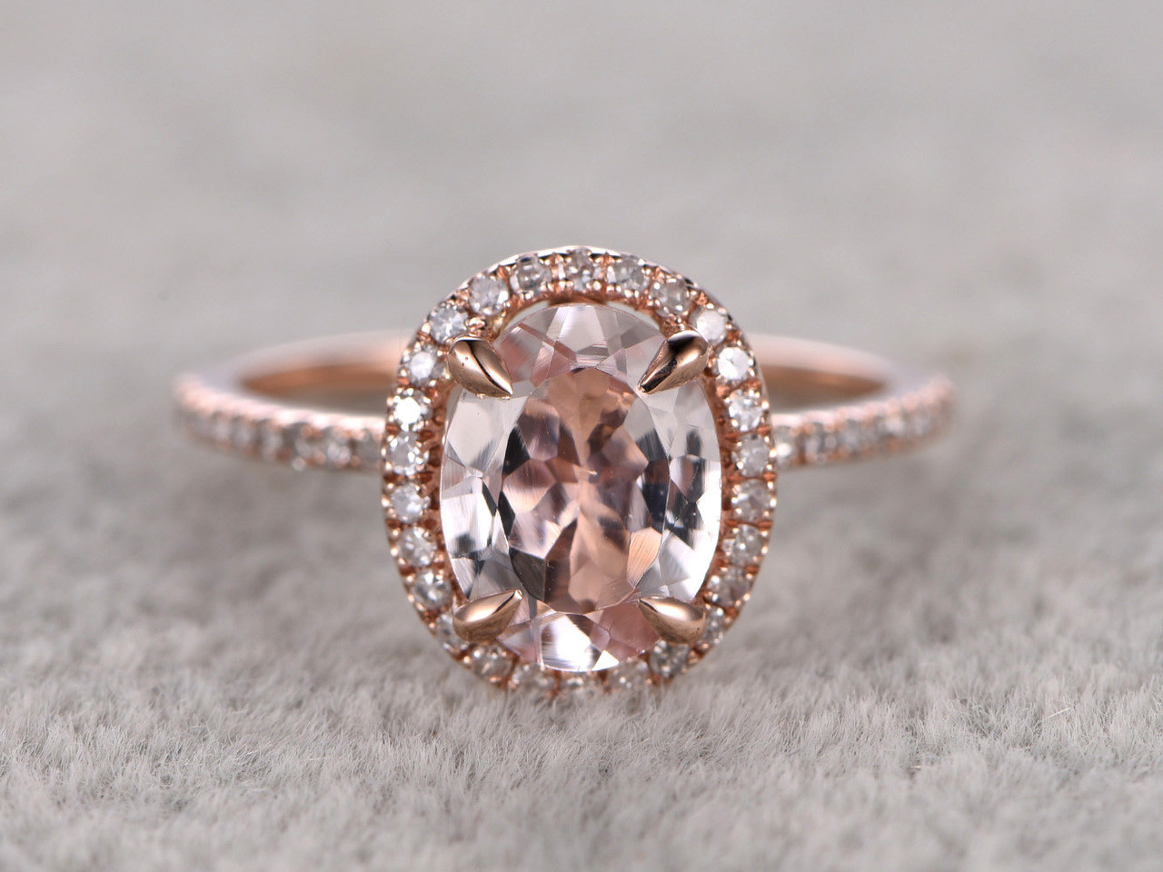diamond rose solid gold halo ring tearoom morganite astley uk clarke