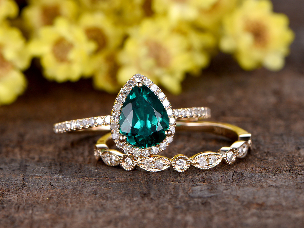small products ring engagement with emerald gemstone asymmetric a diamond rings