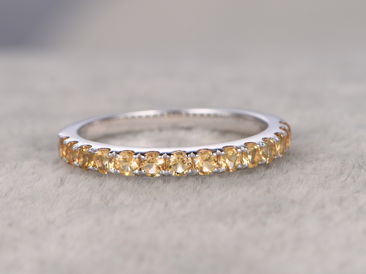 eternity half large zirconia p cubic ring band gold context yellow beaverbrooks bands