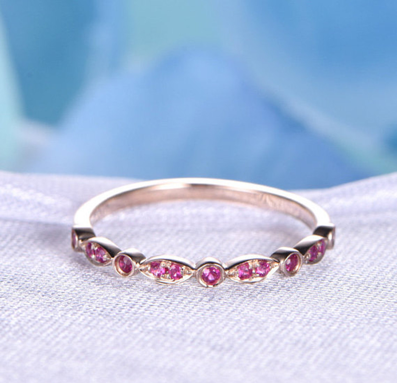 Ruby wedding ring ruby engagement ring 14k yellow gold rubies ruby rings junglespirit Image collections