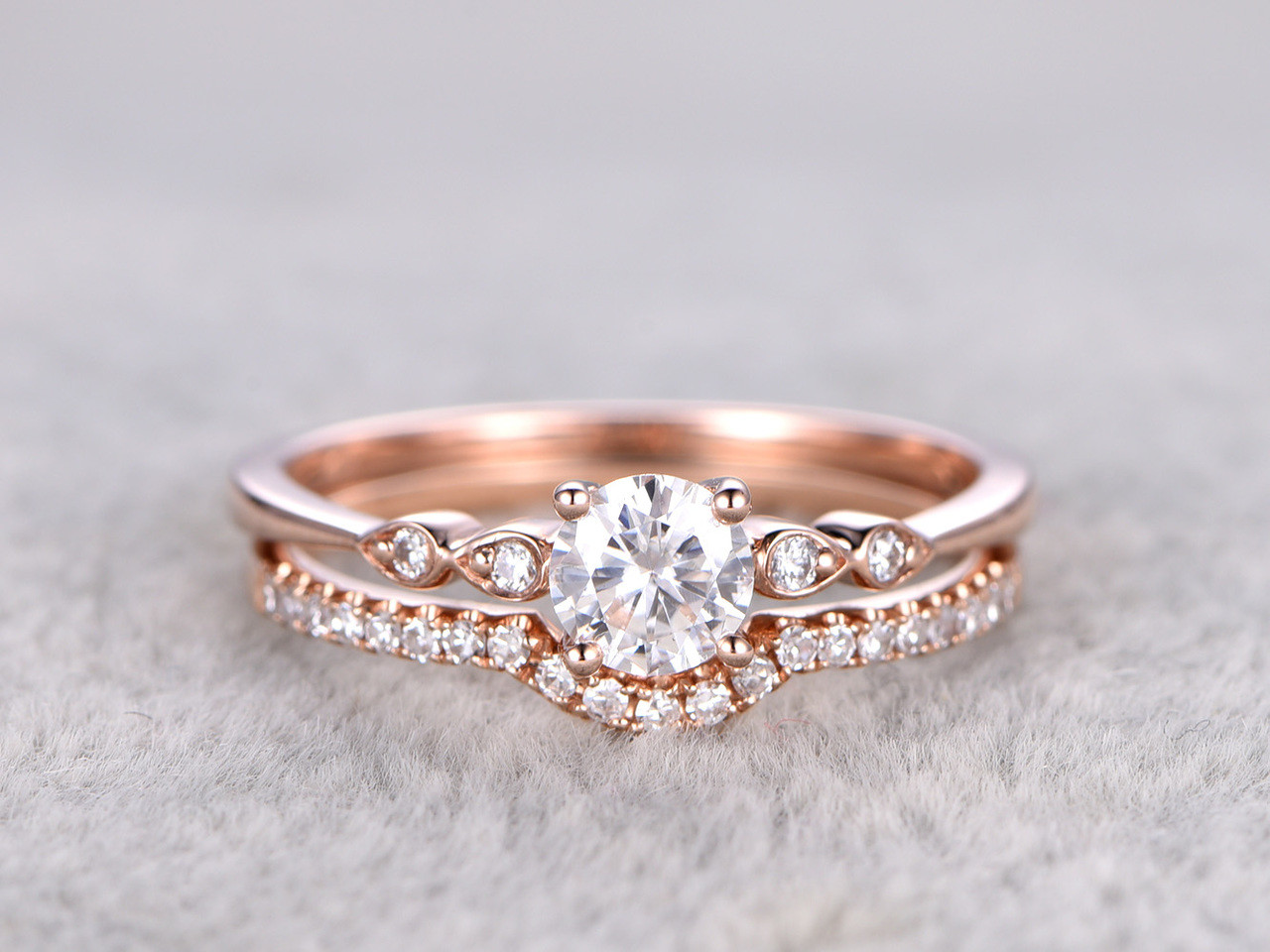jewelry bands band wedding for with diamonds thin in women round gold nl fascinating rg rose white micropave diamond