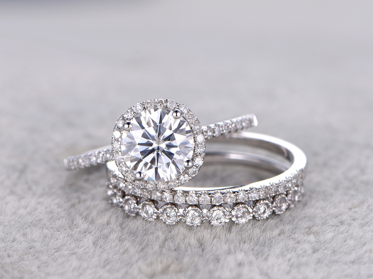 solitaire of engagement ring wedding bands moissanite luxury