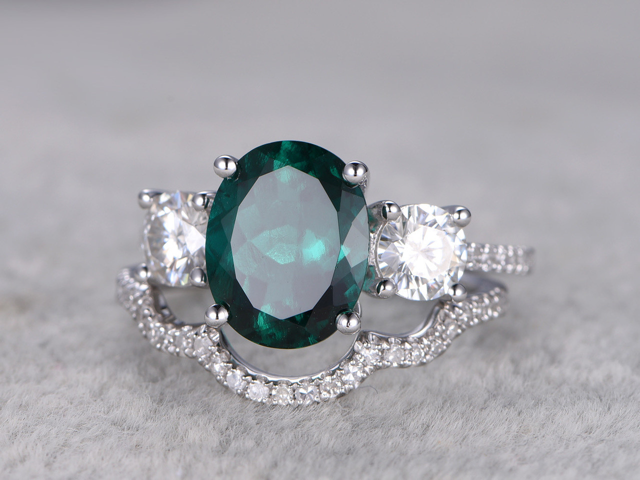 engagement beautiful green emerald wedding bridal hbz fashion unique rings