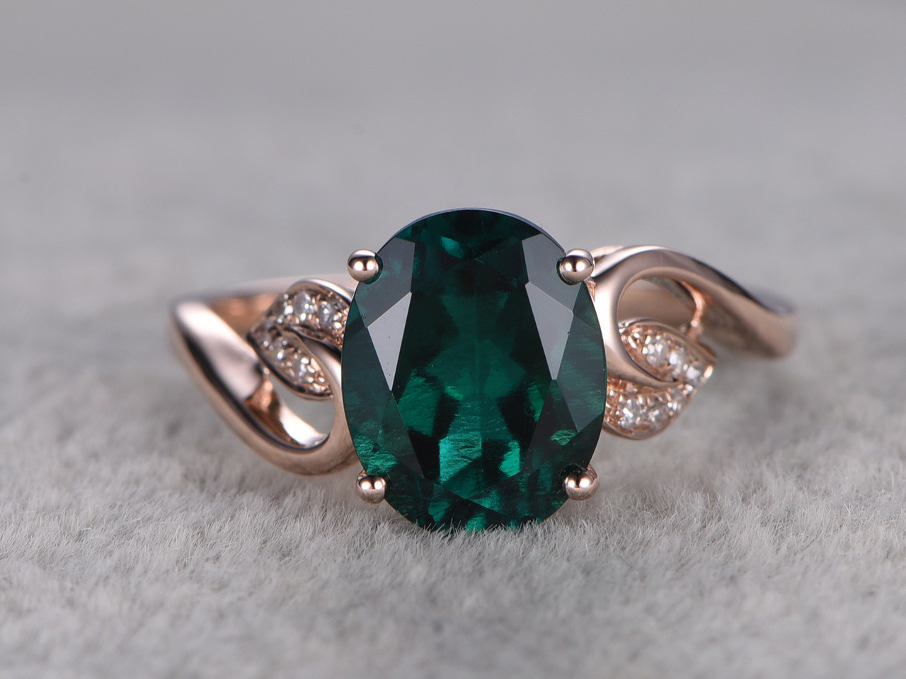gold oval rings love jewelers rosados white diamonds diamond lab box emerald grown gemstone federella ultra halo promise petite ring engagement and