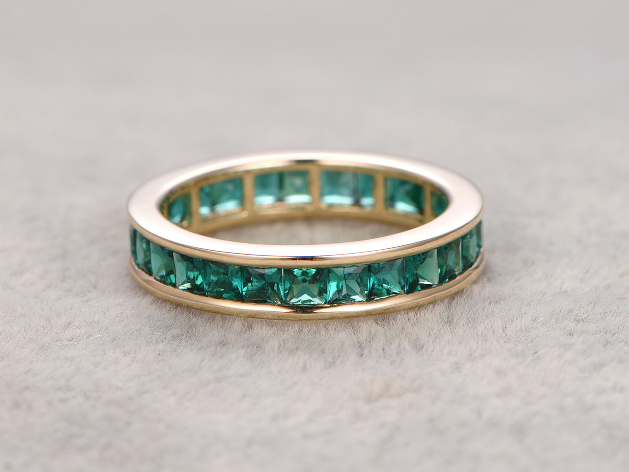stone band emerald anniversary baguette and wedding bands or moissanite cut diamond ctw products ring