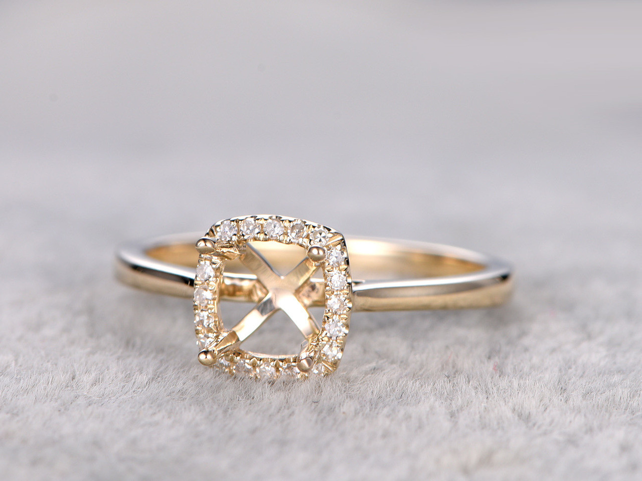 rings vintage square ring certified and cut inspired yellow elegant stunning asscher solitaire engagement wedding pave vega classic jewelry in products gold gia diamond handcrafted shoulders bashert